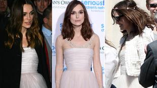 Keira Knightley harmadszor is felvette esküvői ruháját