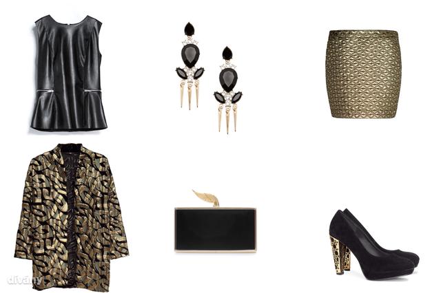 Felső - 9995 Ft (Zara), kardigán - 14990 Ft (H&M) , szoknya - 9995 Ft (Mango), fülbevaló - 1995 Ft (Bershka), táska - 9995 Ft (Zara), cipő - 8990 Ft (H&M)