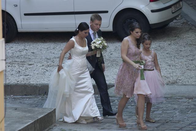 Orbán Ráhel esküvői ruháját Sármán Nóra tervezte.
