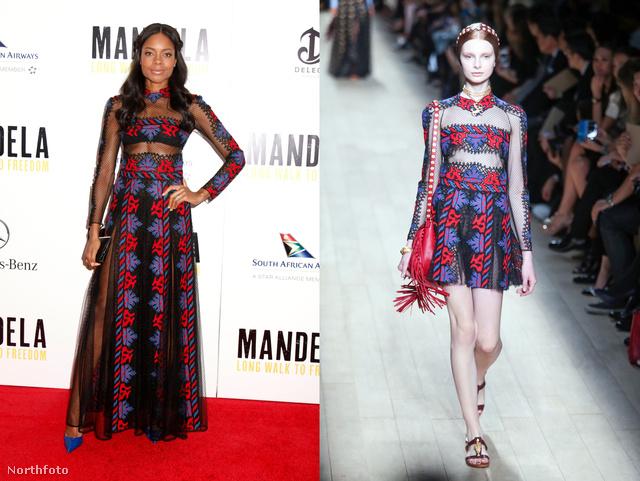 Naomie Harris Mandela életrajzi könyvéből készült film bemutatójára választott Valentinót.