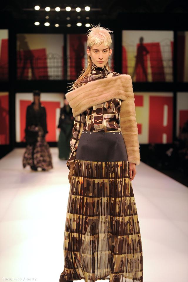 Adamik Luca 2013 márciusában a Jean Paul Gaultier bemutatón.