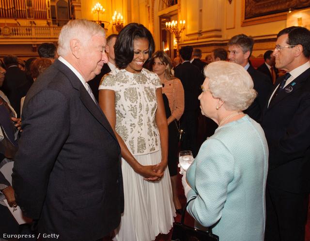 A First Lady és II. Erzsébet királynő még 2012-ben