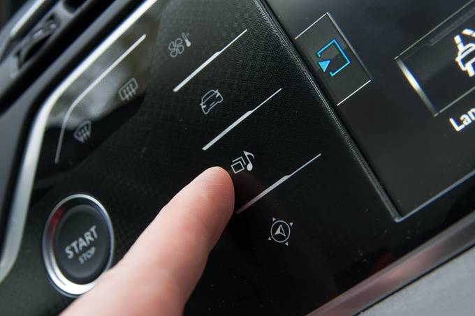 These are the touch (rub) sensitive controls giving you access to the radio, the satnav or the climate control. Hypothetically