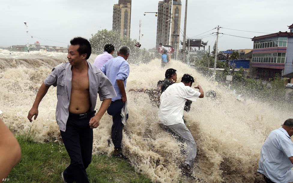 Hatalmas pusztítást okozott a 126 km/h-s széllökésekkel érkező Trami tájfun Kína keleti részén, Zhejian tartományban pedig néhol 20 méter magas hullámokat keltett. A szökőár lerombolta a part menti védőgátakat is, a hirtelen jött árhullámban 30 ember megsérült. Zhejian tartományban 184 443 embert kellett evakuálni. 480 ház összedőlt, a gátrendszerek pedig 33,56 km hosszan megrongálódtak. Ennek ellenére voltak, akiket szórakoztatott a nem hétköznapi hullámlovaglás.