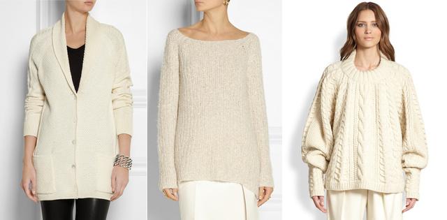 Balról jobbra: Bottega Veneta 1550 euró, Donna Karan 2200 euró, The Row 4490 dollár. Utóbbi készlethiányos.
