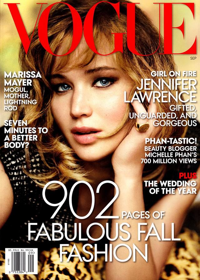 Jennifer Lawrence-el jól járt a Vogue idén szeptemberben.