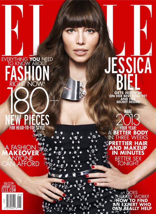 Jessica Biel sem hívta fel az Elle-re a figyelmet.