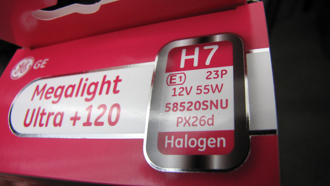 These premium GE bulbs, manufactured in Hungary, bear the code E1, awarded by the German qualification institute. These H7 lights fully comply with all regulations yet are brighter on the road