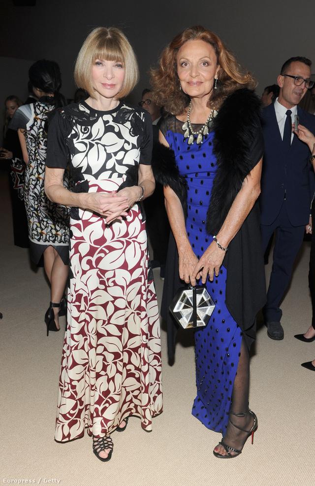 Anna Wintour és Diane von Furstenberg is bátran leverik a mintákat és a színeket.