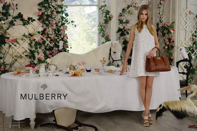 Tea délután állatokkal a Mulberry tavaszi kampányában.