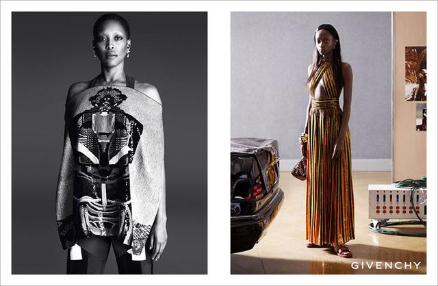 Következetesen színes bőrű modellekkel dolgozik a Givenchy 2014-ben.