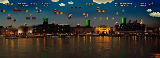 Super Mario egy boldogabb Budapesten.