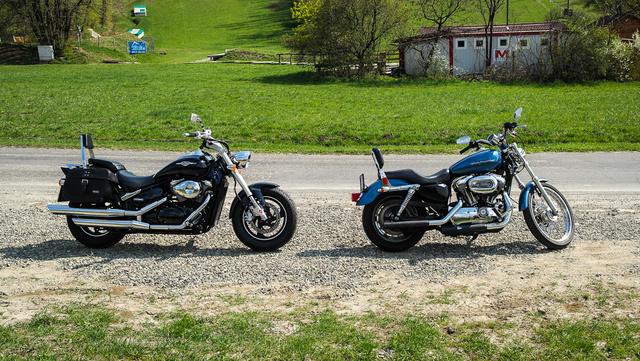 """A Harley Sportster sokkal """"igazibb"""" motor de ha nagyon pontosak akarunk lenni, nem cruiser hanem chopper. Összességében az Intruder vonzóbb"""