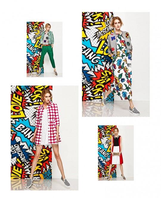Adamik Luca a Love Moschino pop-art ihlette kampányában.