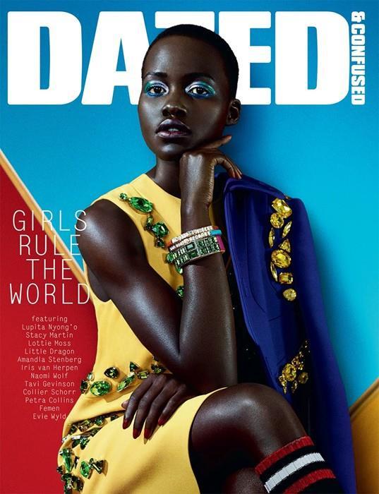A brit Dazed & Confused februári címlaplányaként Pradában.