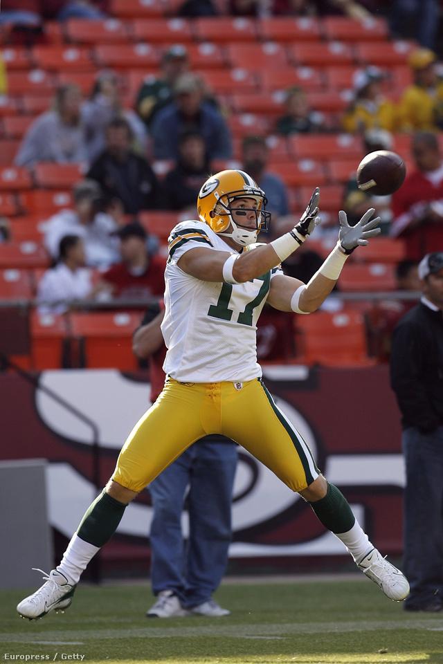 Johnny Quinn még a Green Bay Packers elkapójaként
