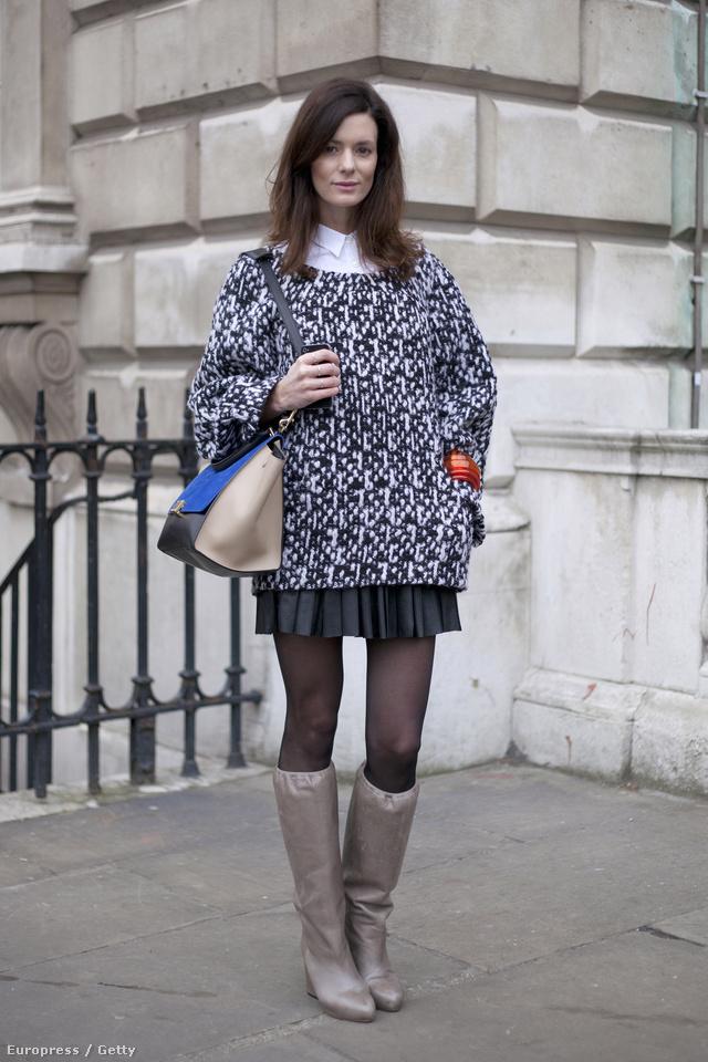 Kombinálja menő, hanyagul laza esésű pulóverét egy egyébként hozzá nem illő, elegánsabb szoknyával vagy pantallóval.