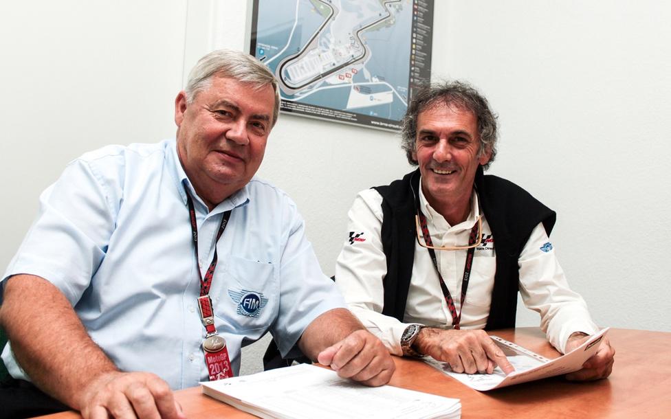 Bulcsu Rezső, az FIM gyorsasági szakágának igazgatója és Franco Uncini, a MotoGP egyik biztonsági szakembere. Bulcsu Rezső jelenleg a motorsport felsőházának egyik kulcsfigurája világviszonylatban. Uncini pedig 1982 ötszázas világbajnoka, egy évvel később '83-ban majdnem életét vesztette egy bukás következtében. Jelenlegi munkatársa a biztonsági részlegen, a nemrég visszavonult Loris Capirossi.