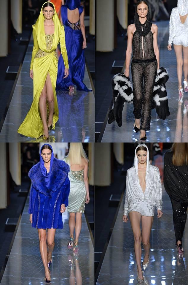 Az Atelier Versace sejtelmes szabásvonalakkal és élénk színekkel kísérletezett idén.