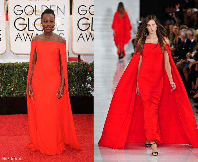 Lupita Nyong'o felvett egy Ralph Lauren ruhát, ki is kiáltották stílusikonnak