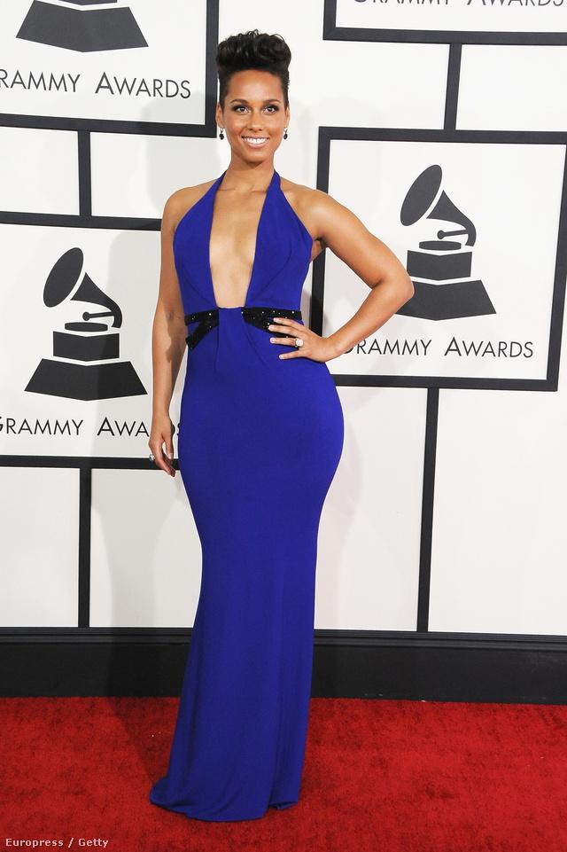 Alicia Keys és a kék Armani Privé  ruha