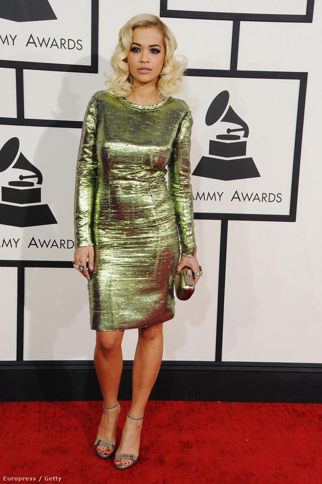 Rita Ora választása egy Lanvin ruhára esett.