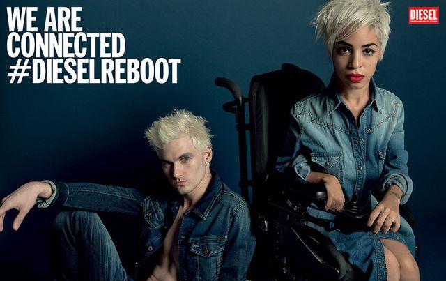 Jillian Mercado ésJames Astronaut a Diesel 2014-es kampányában