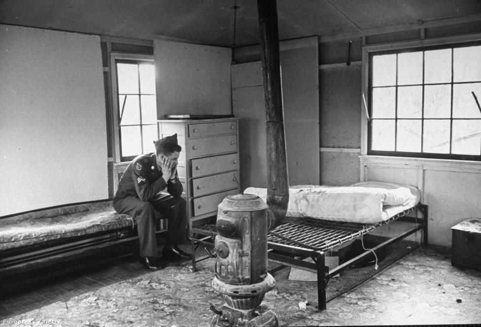 Egy Laurel Village-i ház belülről. A támaszpont egyben leszerelési központ is volt a második világháborúban szolgált katonák számára.