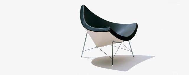 """. Nelson egyik legklasszikusabb modern székét, a """"Coconut-ot"""" a hatvanas évek elején tervezte, mikor még a Herman Miller bútorgyár design igazgatója volt."""