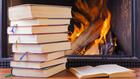 Téli olvasmányok, képzelt kandalló előtt