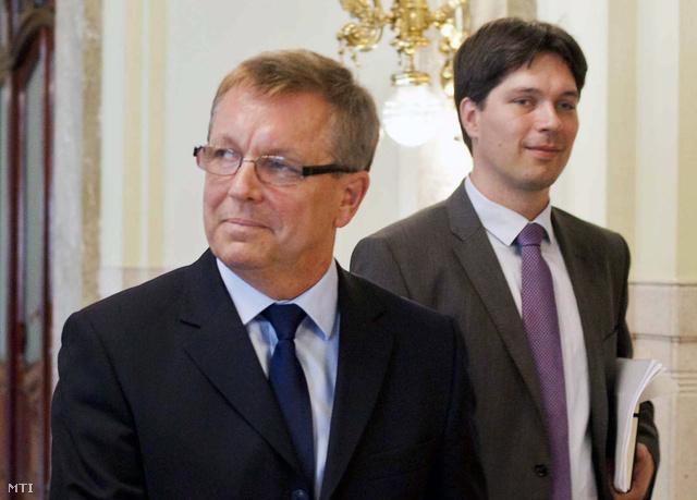 Matolcsy György a Magyar Nemzeti Bank elnöke és Balog Ádám alelnök