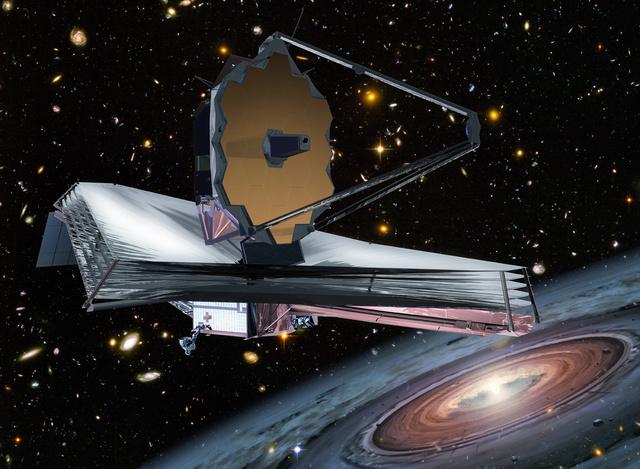 A James Webb űrteleszkóp látványterve