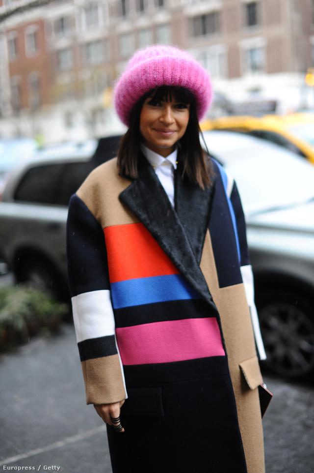 Miroslava Duma sapkája még a kabáthoz is tökéletesen passzol.