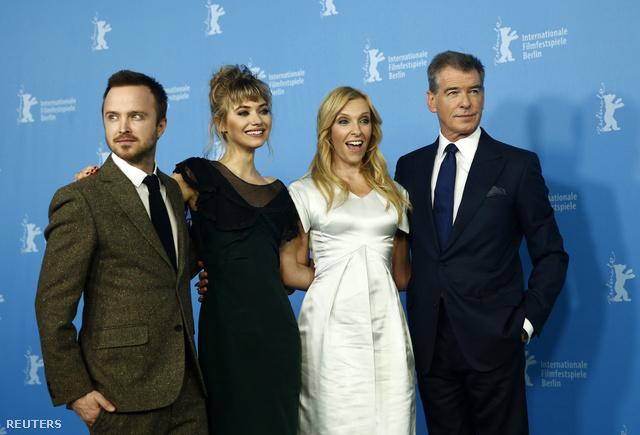 Aaron Paul, Imogen Poots, Toni Collette és Pierce Brosnan