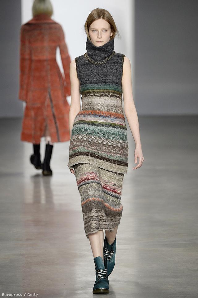 Gall Francisca is végiglejtett Calvin Klein kifutóján.