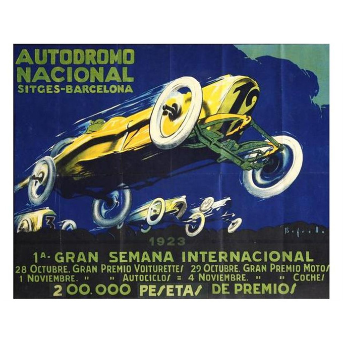 Poster of the 1923 GP-race