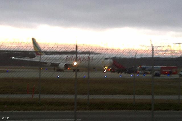 Az eltérített gép Genfben