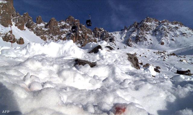 A baleset helyszínén készített felvétel 2014. január 3-án.