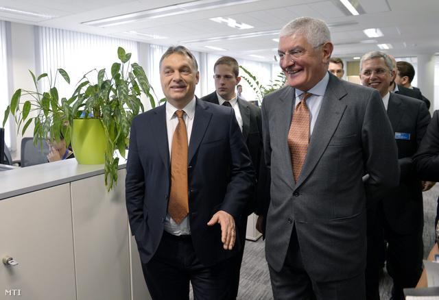 Orbán Viktor és Nani F. Beccalli a GE európai elnök-vezérigazgatója