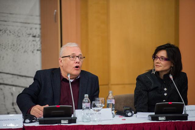 Balázs Péter volt külügyminiszter és EU-s biztos és Krizsó Szilvia