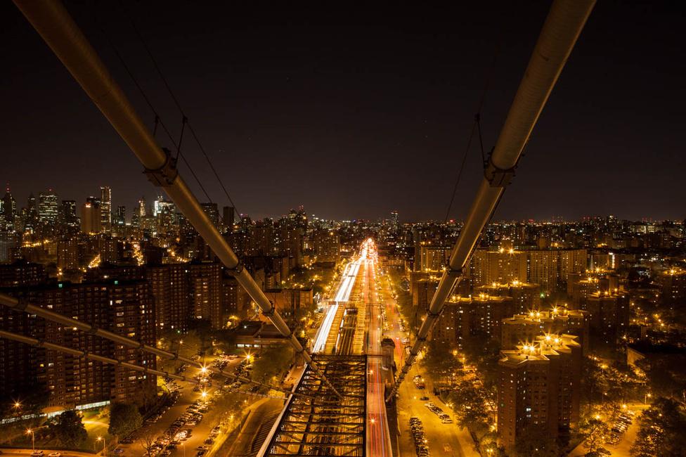 Manhattan a Williamsburg Híd tetejéről fényképezve.