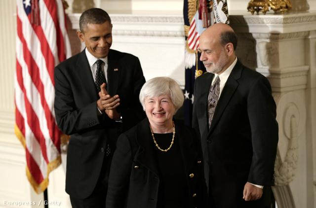 Obama elnök, Yellen és Bernake Yellen kinevezésekor