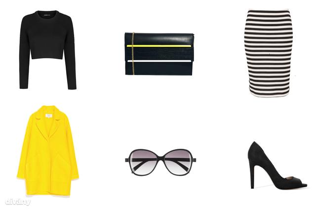 Felső - 9995 Ft (Mango), szoknya - 5290 Ft (F&F), kabát - 25995 Ft (Zara), napszemüveg - 1990 Ft (H&M) , táska - 15,99 font (New Look/Asos), cipő - 9995 Ft (Zara)