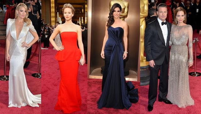 Kate Hudson, Jennifer Lawrence, Sandra Bullock, valamint a Pitt-Jolie páros az Oscar vörös szőnyegén.