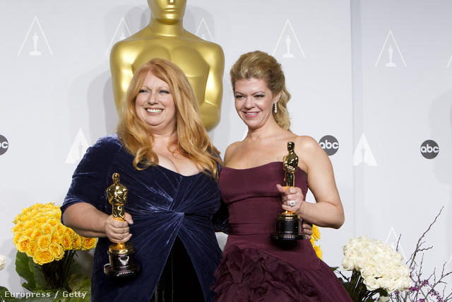 Adruitha Lee és Robin Mathews a jól megérdemelt Oscarral