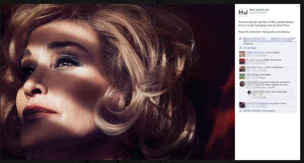 Jessica Lang a Marc Jacobs reklámarca lesz