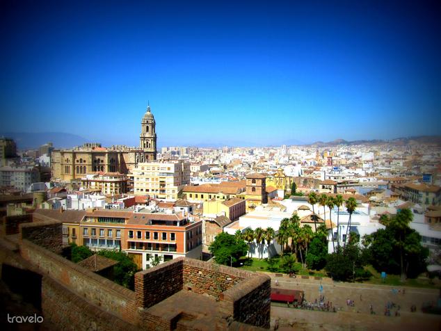 Malaga látképe