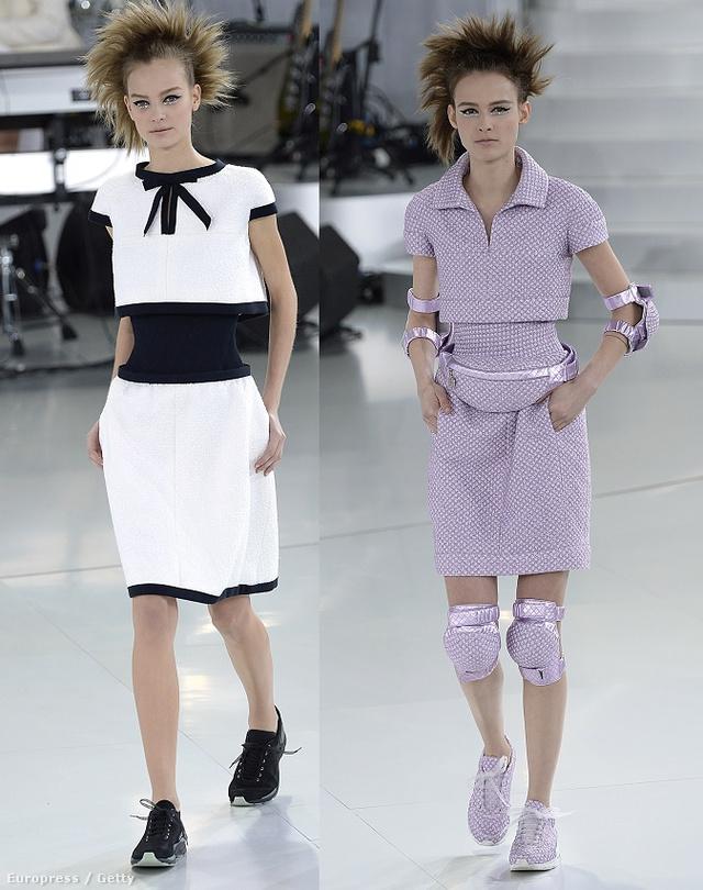 A kifutón így néztek ki az haute couture Chanel kosztümök.