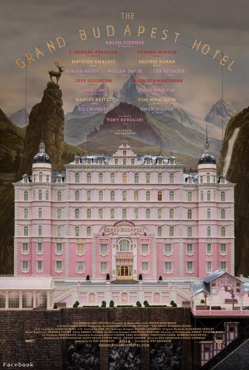 A Grand Budapest Hotel giccsbe hajló moziplakátja.