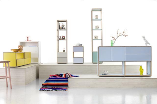 """Az ADD egy bútorcsalád, amit Werner Aisslinger tervezett a FLÖTOTTO számára. A bútorok könnyen alakíthatóak, ezáltal könnyen egyedivé tehetőek. A bútor """"lelke"""" az a kívülről nem látható kapocs, melynek segítségével folyamatosan átalakíthatjuk a bútort, adott funkciójának megfelelően."""